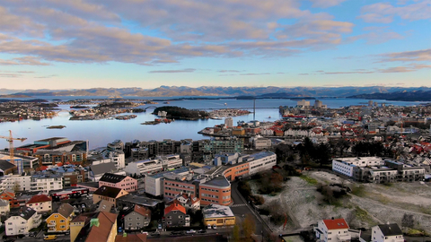 Drone shot of Laerdal Stavanger Headquarters